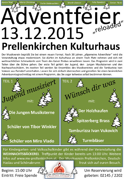 Adventfeier 2015 in Prellenkirchen