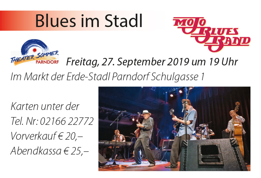 Blues im Stadl, Mojo Blues Band 2019 in Parndorf